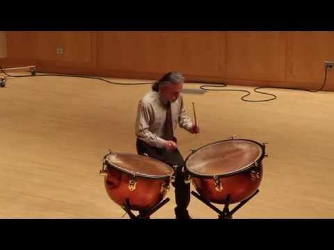 Timpanist Lynn Brown performs Altenburg