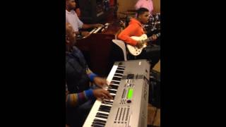 Band blazing in rehearsal for James Fortune