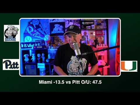 Miami vs Pittsburgh Free College Football Picks and Predictions CFB Tips Saturday 10/17/20