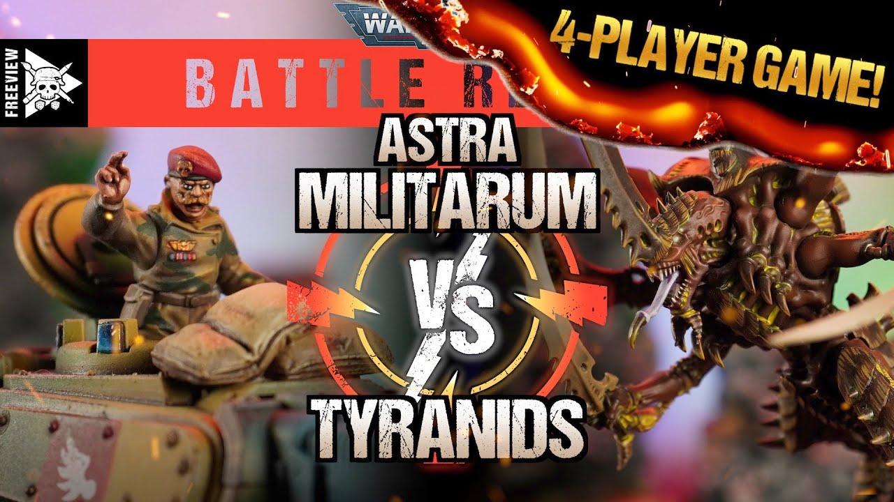 Astra Militarum vs Tyranids 4000pts Multiplayer! | Warhammer 40,000 Battle Report
