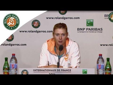 Press conference Maria Sharapova 2014 French Open 1st Round