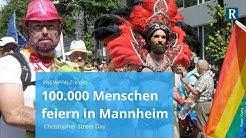 Mannheim: 100.000 Menschen feiern Christopher Street Day