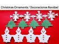Kirigami Christmas Decoration - Decoraciones para Navidad