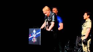 Chuck Renslow speaks at International Mr. Leather XXX5 in 2013