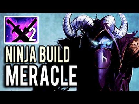 x2 Sange and Yasha Ninja Riki With 25 Kills by Meracle- 7.05 Ninja Build Dota 2