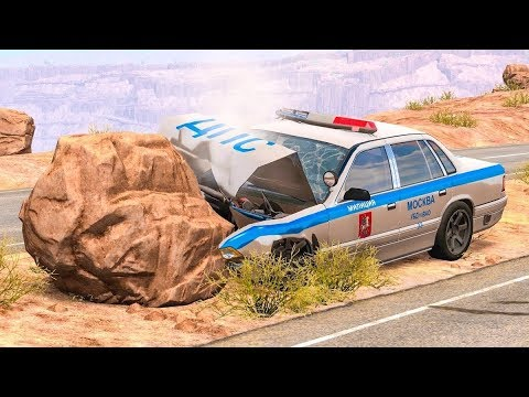 МУЛЬТИК про машинки Полицейская Машина разбита.Аварии.