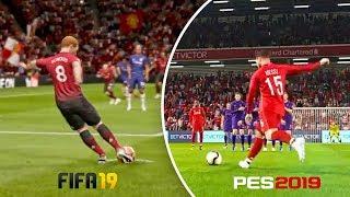 FIFA 19 vs PES 19 ● BEST FREE KICK GOALS