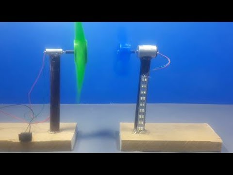 How to Make Energy Wind Turbine Generator for Free Energy Electric Light exhibition project 2018