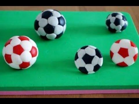 Как сделать футбольный мяч из мастики⚽.Как сделать  чёрную мастику без красителя. Football . ⚽.МК