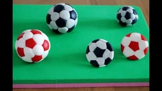 как сделать футбольный мяч из мастики для торта