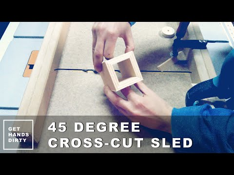 Create Perfect Mitered Corners with 45 Degree Cross-cut Sled