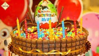 Торт Киндер. Как приготовить торт Киндер сюрприз. Сборка торта. Торт для детей. Моя Dolce vita
