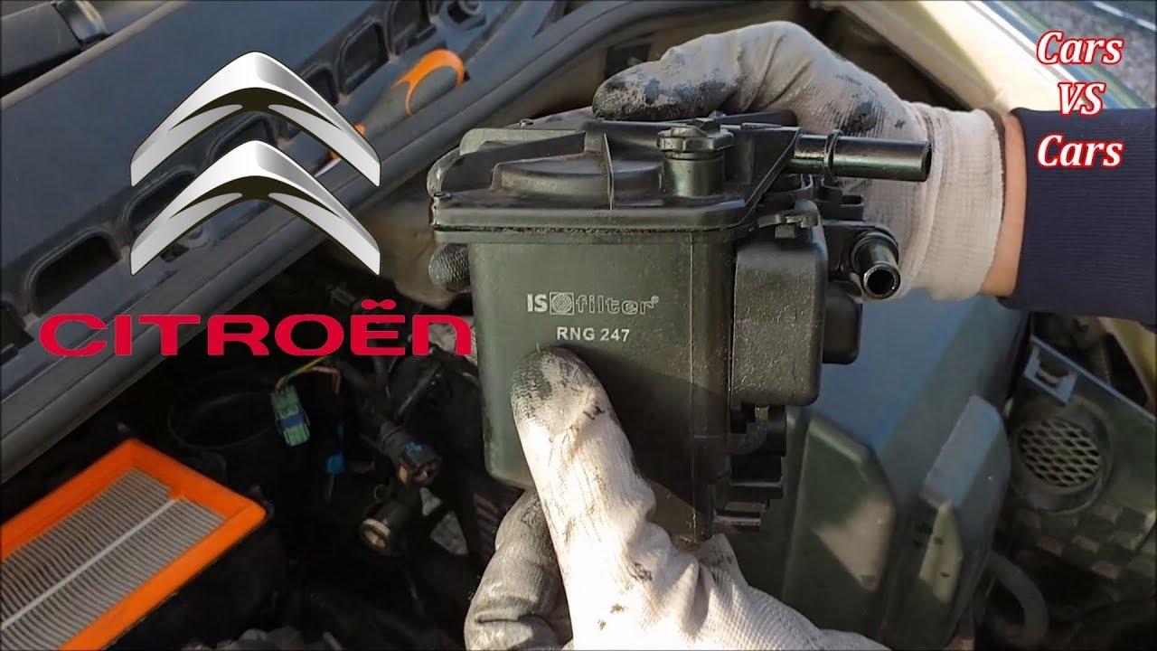 DIY Citroen C3 1.4 HDI and 1.6 HDI Fuel Filter Change