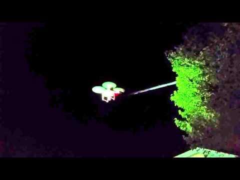 Quadcopter UAV at night