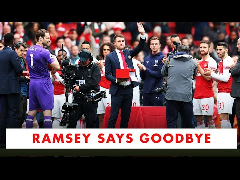 aaron-ramsey-says-goodbye-to-arsenal-fans-❤️