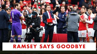 Aaron Ramsey says goodbye to Arsenal fans ❤️
