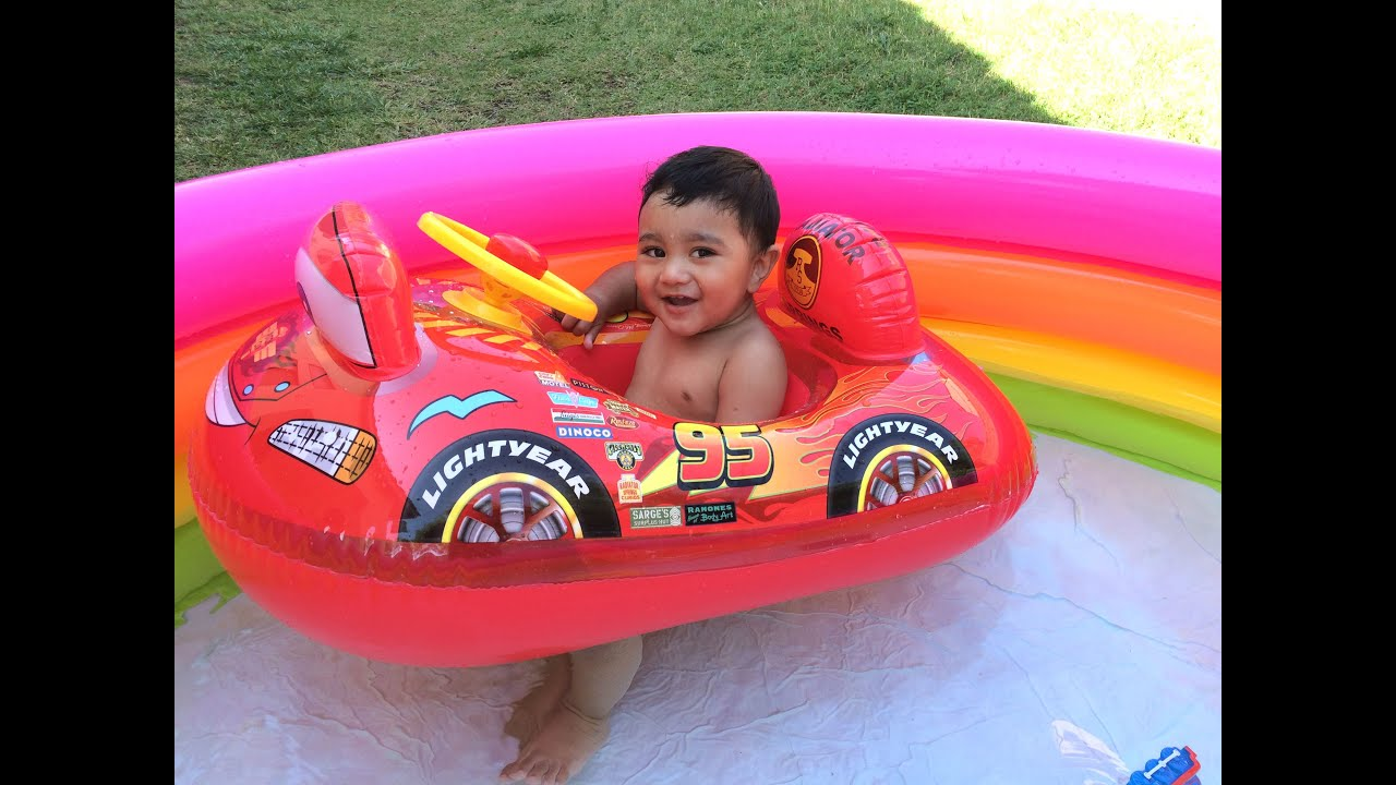 disney cars mcqueen in swimming pool thomas and friends toys egg surprise color changer youtube