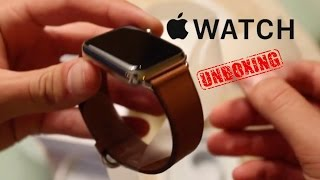 UNBOXING Apple Watch 42mm Stainless Steel Case with Saddle Brown Classic Buckle
