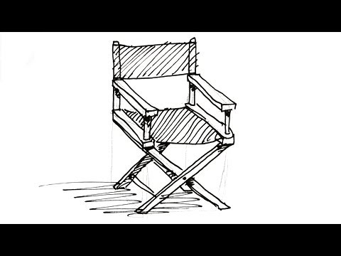 chair drawing easy. how to draw a director\u0027s chair real easy drawing