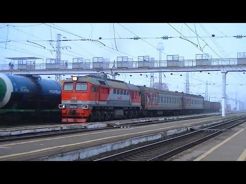 РЖД ДМ62-1768 с пригородным поездом Ковров-1 - Муром