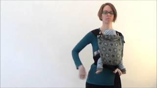Fräulein Hübsch Mei Tai - Trageweise vor dem Bauch mit kurzem Rückenteil für Neugeborene