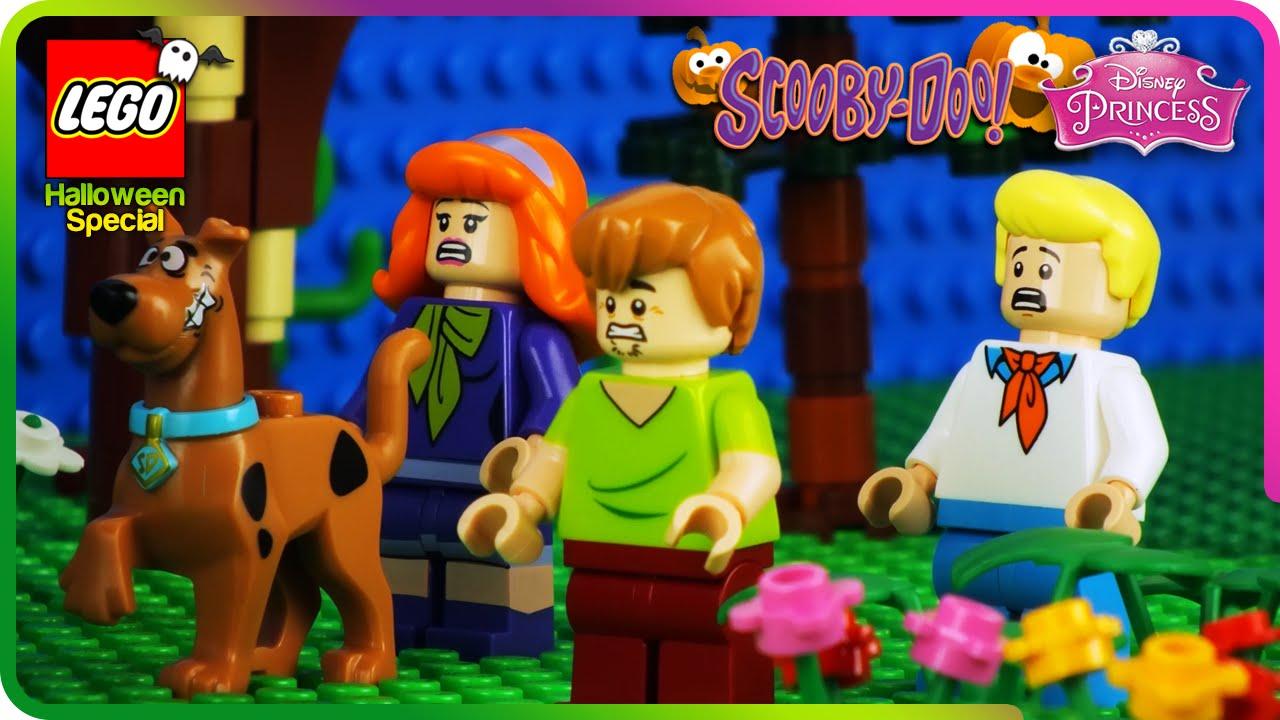 ♥ lego scooby doo & disney princess halloween special prank