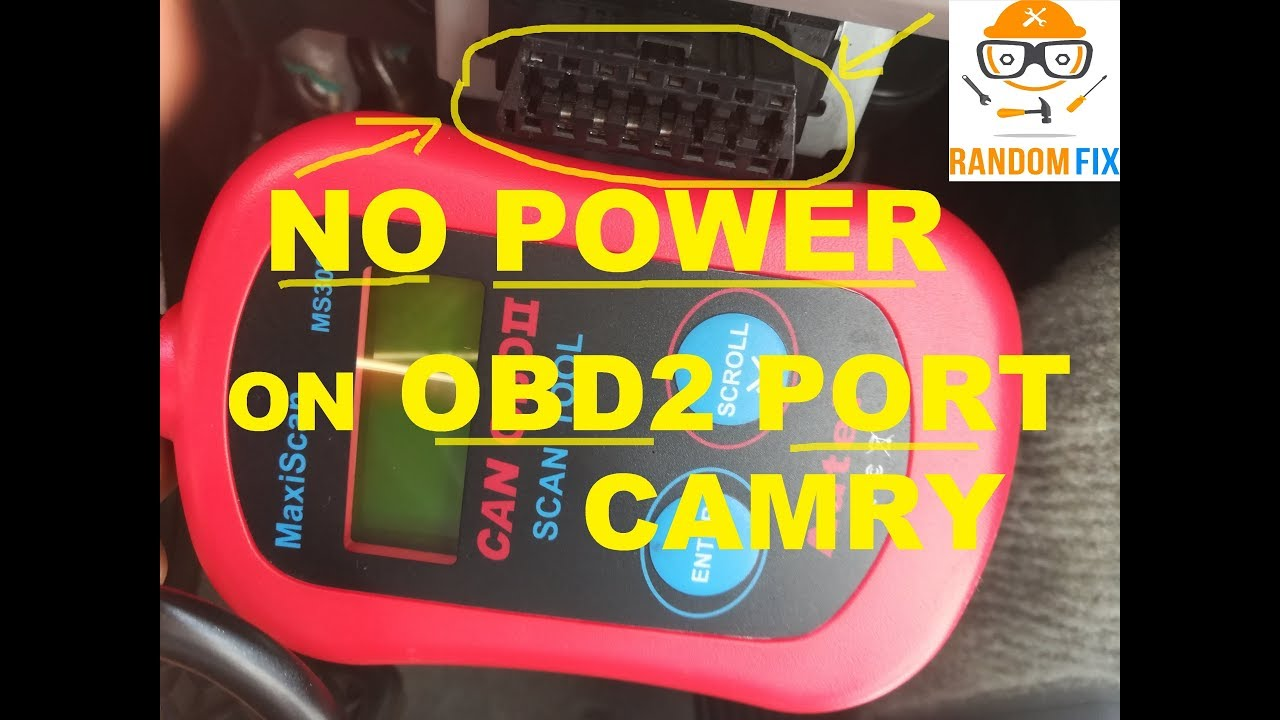 ▶️How To Fix 2010 Toyota Camry OBD2 OBDII NOT WORKING, Easy Fix Included