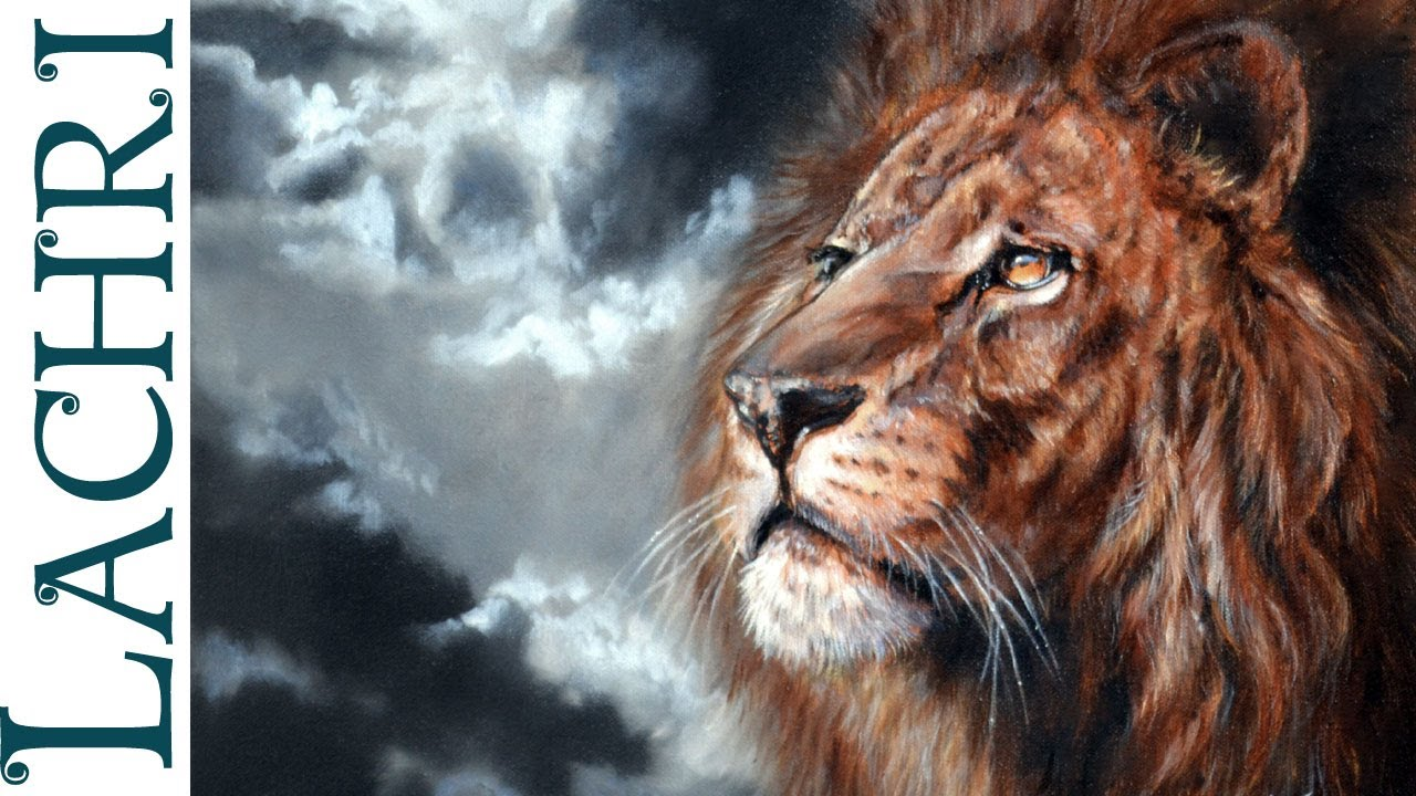 speed painting how to paint a lion time lapse tutorial oil and