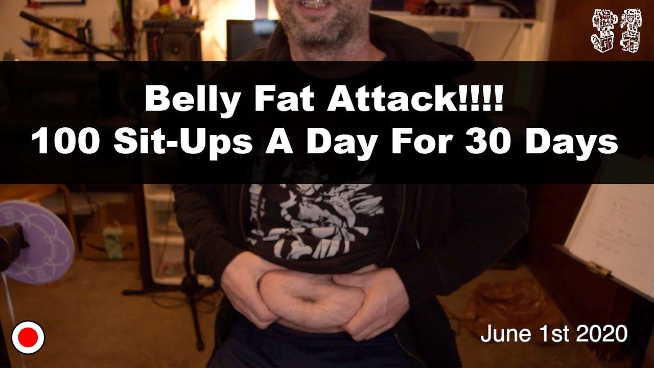 sit ups belly fat pierde