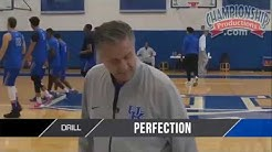 "John Calipari's ""Perfection"" Drill for the Start of Practice!"