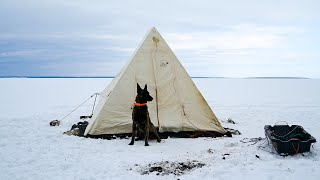Set up a Canvas Tent on a Frozen Lake