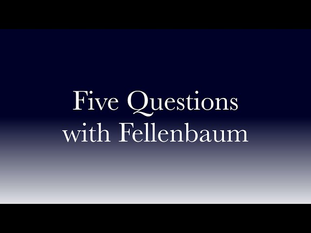 Five Questions with Fellenbaum - Kristine Candler