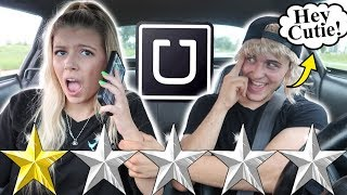 PICKED UP MY GIRLFRIEND IN AN UBER UNDER DISGUISE!! *Parody*