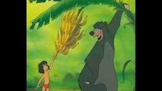 Jungle Book Baloo bear and Mowgli sing The Bare Necessities thumbnail