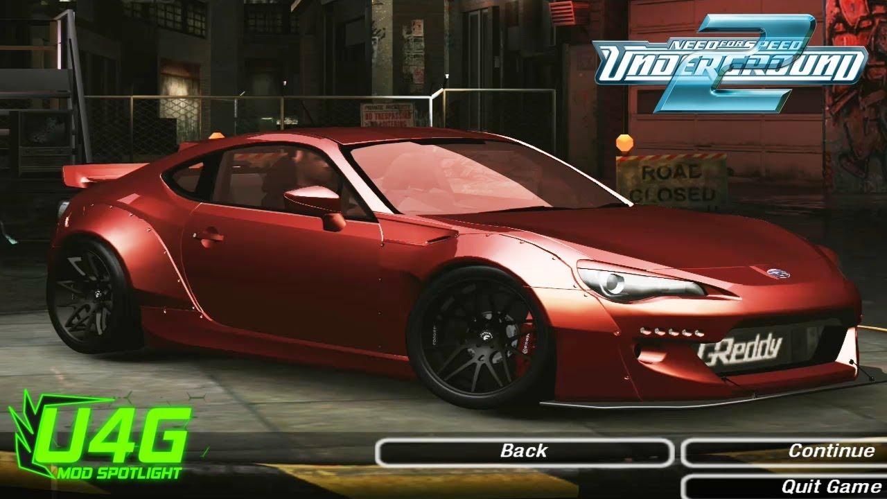 Subaru BRZ ROCKET BUNNY V2 Need For Speed Underground 2 Mod Spotlight U4G