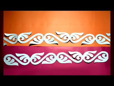 Paper cutting art | paper cutting design | How to make border design | soft board border easy