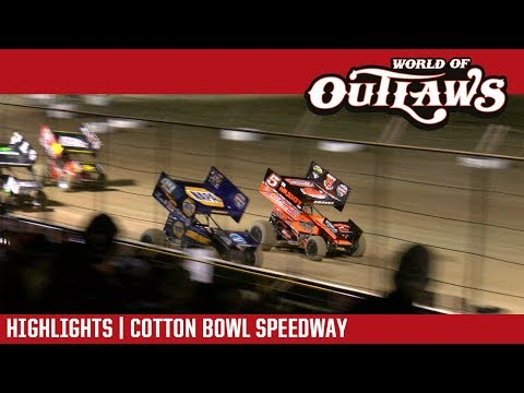 World of Outlaws Craftsman Sprint Cars Cotton Bowl Speedway April 26, 2018 | HIGHLIGHTS