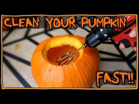 How To Clean Out Your Pumpkin FAST! 📍 How To With Kristin
