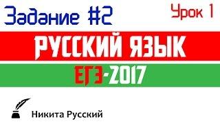 Разбор задания №2. ЕГЭ по русскому языку 2017. Пример ФИПИ