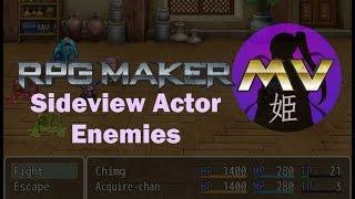 RPGMaker MV: Sideview Actor Enemies