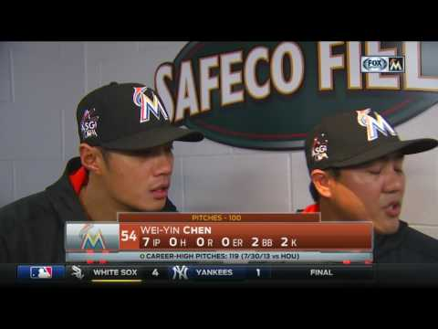 Wei-Yin Chen -- Miami Marlins at Seattle Mariners 04/18/2017