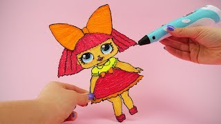 How To Draw LOL Doll Glitter Queen with 3D Pen | 3D Pen Creation