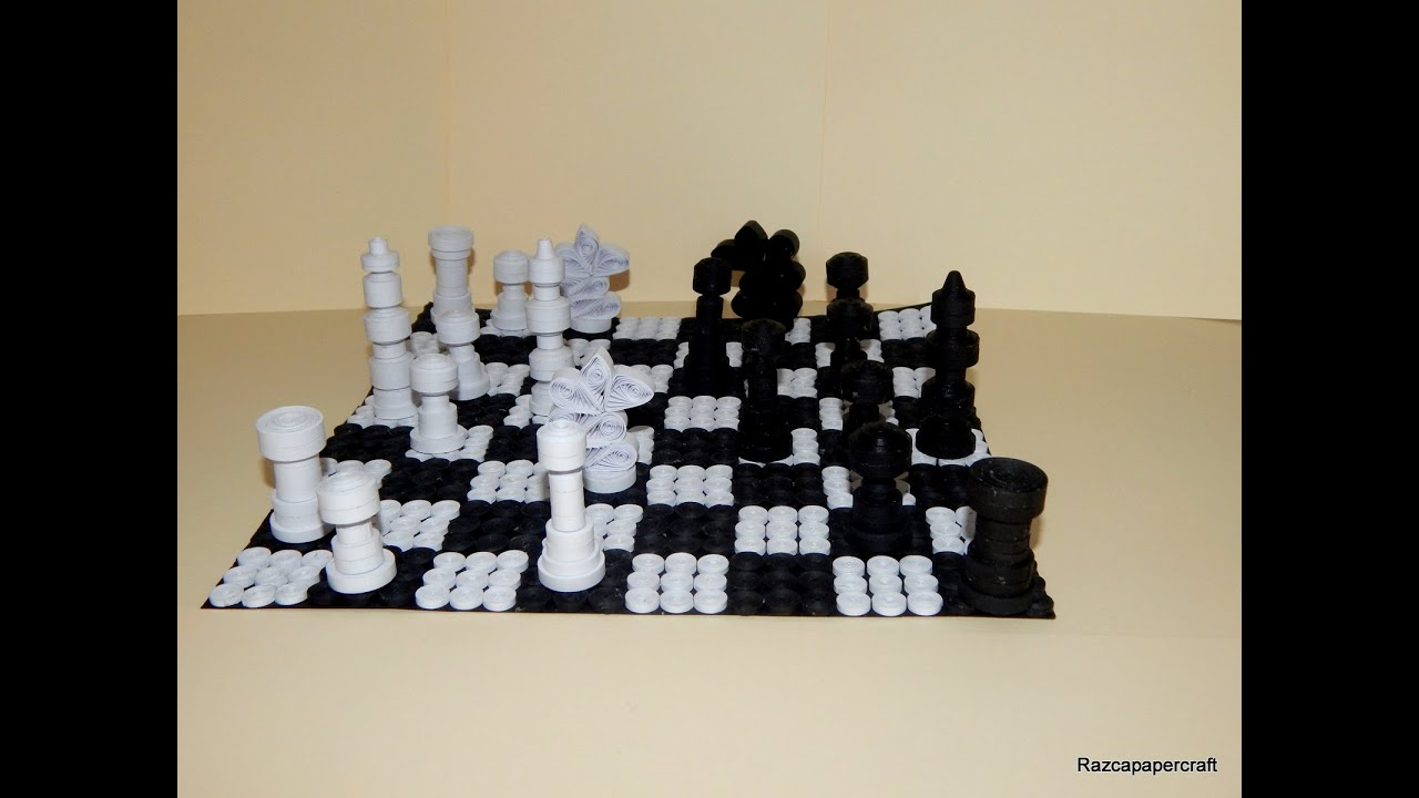 How To Make 3d Quilling Chess Set Part1 Quilling Pawn
