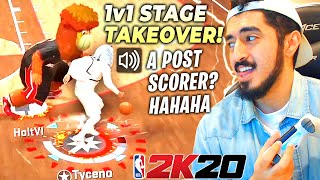 1v1 STAGE TAKEOVER WITH MY LEGEND SHOT CREATOR in NBA2K20!