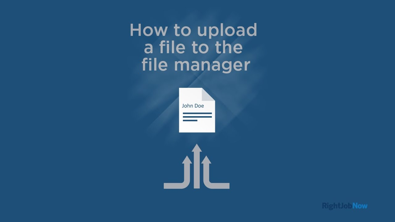 how to upload a resume to file management by phone rightjobnow apply youtube