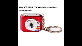 The X3 Mini DV HD World's Smallest Camcorder Instructions Review And Unboxing