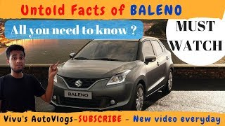 BALENO : untold facts which you never knew about BALENO || vlog 23