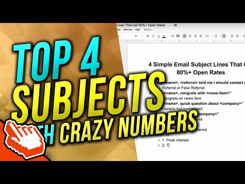 TOP 4 Email Subjects That Get 50-80%+ Open Rates (Free Module) | Cold Emails for SMMA