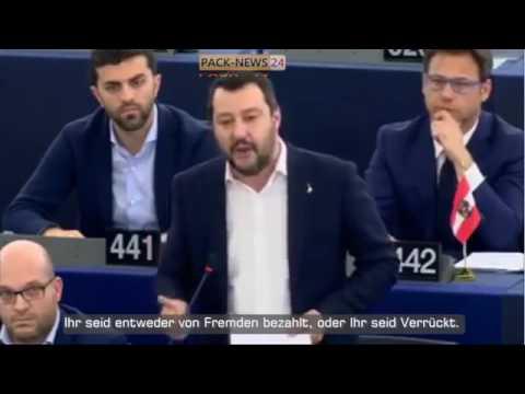 MATTEO SALVINI IN ACTION IM EU PARLAMENT
