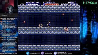 Zelda II randomizer practice runs (now with pizza and coke!)